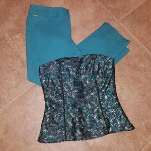 WHBM pants & WHBM bustier